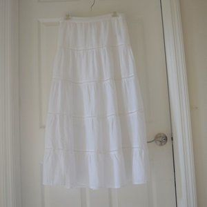 Style & Co Cotton Tiered Maxi Skirt Small Petite